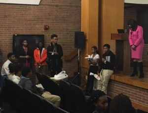 NYS DC Johnetta and students